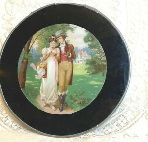 FLUE COVER LOT #102 Extra Large OLD Flue COVER Victorian Young Man & Woman
