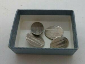 Vintage Sterling Silver 925  Art Deco Cufflinks In Gift Box VGC   #105