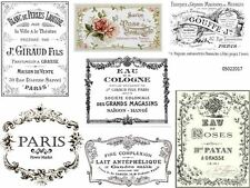 VinTaGe IMaGe FRenCh AdVerTiSinG LaBeLs SHaBbY WaTerSLiDe DeCALs #1