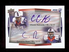 CHEVIN KENNEDY / CAMERON ROSE 2015 UD USA Football DUAL Cert. *AUTOGRAPH* RC