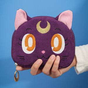 Cute Sailor Moon Luna Cat Cartoon Jewelry Bag Cosmetic Storage Wallet Hand Bag