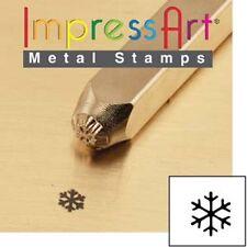 Cachet en métal, punch, de flocons de neige snowflake small, 3mm