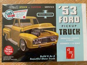AMT 1953 FORD PICKUP TRUCK  3 IN 1 STOCK CUSTOM MODEL KIT TROPHY SERIES RETRO