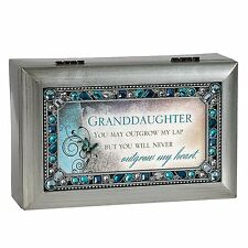 Granddaughter Jeweled Silver Finish Jewelry Music Box - Plays Tune You Are My