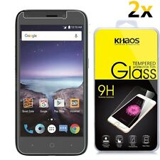 [2-Pack] Khaos HD Tempered Glass Screen Protector For ZTE Prestige 2 N9136