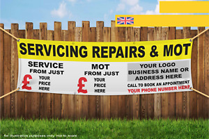 Servicing Repairs And MOT Custom Pricing And Inf Heavy Duty PVC Banner Sign 2275