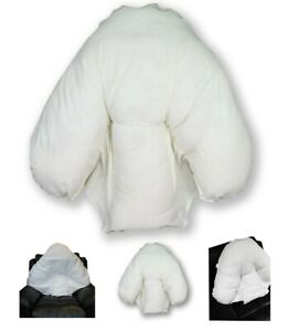 Batwing Pillow with Case Lumbar Seat Cushions Orthopaedic Back Support CREAM