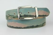 """Russell & Bromley Tango Scenic Paint Art Print Leather Belt Size 90cm 36"""""""