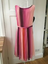 BN BODEN MARIA DRESS OMBRE STRIPE SIZE 12R PERFECT FOR WEDDING, RACES, EVENING