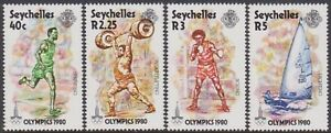 SET Seychelles 1980 Olympic Games Moscow 40c-5r MNH Stamps SG473/476