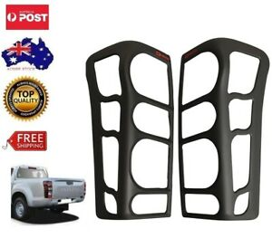 MATT BLACK TAIL LIGHT PROTECTOR COVER FOR ISUZU DMAX 2012-2019