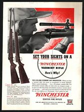 1953 WINCHESTER Model 70 and 43 Bolt Action Varmint Rifle PRINT AD