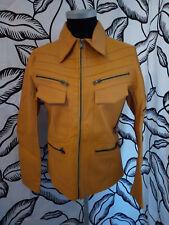 Montereggi Point Yellow Leather Jacket XS / Small