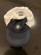 BMW USA Olympic Proud Partner Blue White Hat Adjustable