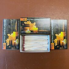 3 x Boxes of Bryant May Safety Matches Extra Long - Ideal for Candles Open Fires