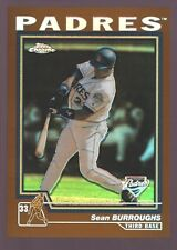 "SEAN BURROUGHS SAN DIEGO PADRES GOLD REFRACTOR MINT SP 2004 TOPPS CHROME ""GEM"""