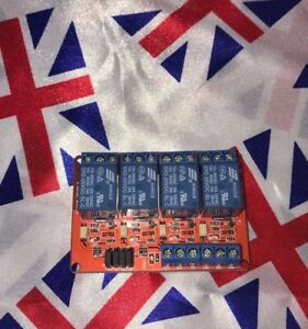 ⭐ 5v 4 Channel Relay Module Opto Isolated board for Arduino and MCU projects ⭐