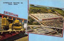 Linen Postcard Caterpillar Tractor Company in Peoria, Illinois~111481