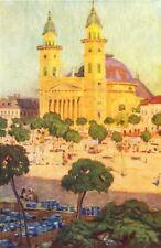 Rumänien. Kathedrale & SQ, Szatmar 1909 alt antik Vintage Print Bild