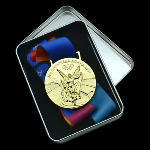 2004 Athens Olympic Games Champions Gold Medal Craft In Gift Box for Collection