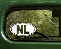 2 NL NETHERLANDS DECALs Oval Sticker Bumper Car Laptop Window Truck