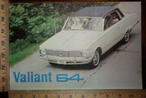 1964 Chrysler Plymouth Valiant Brochure Folder Automex Mexico Spanish ORIGINAL