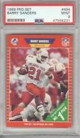 Barry Sanders 1989 Pro Set Rookie Card #494 PSA 9 Graded Detroit Lions