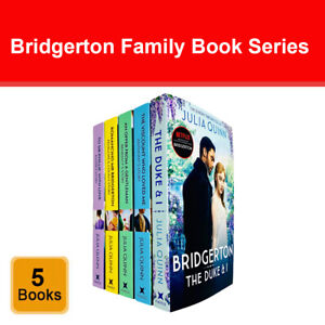 Bridgerton Family Book Series 5 Books Collection Set by Julia Quinn Pack NETFLIX