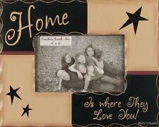 RUSTIC HANDMADE WOOD HOME 4 X 6 PICTURE FRAME PHOTO SIGN HOME DECOR 2582B BIN