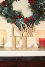 """Noel"" Christmas decoration freestanding wooden letters sign"