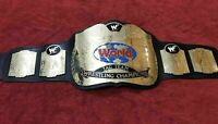 WWF World TAG TEAM Wrestling Championship Leather Belt Thick Plate Replica Adult