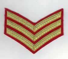 BRITISH ARMY SERGEANTS DRESS INSIGNIA/CHEVRON FOR MESS DRESS GOLD ON RED