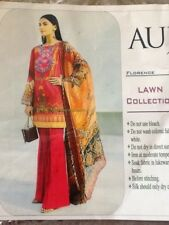 Woman Indian Pakistani Designer AUJ Kameez shalwar material
