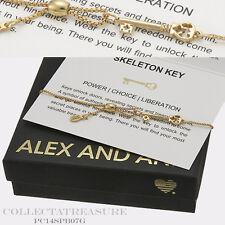 Authentic Alex and Ani Providence Skeleton Key PullChain 14kt GP Bracelet
