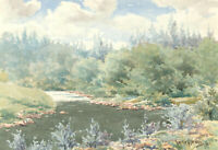 Walter G. Beaven - Signed and Dated 1956 Watercolour, Woodland Landscape