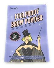 Benefit Foolproof Brow Powder 0.01g & Apllicator Brush-Carded- Shade 3 Sample