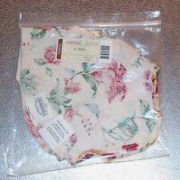 """Longaberger Heirloom Floral BOWL Basket Liner 9"""" inch ~ New in Original Bag!"""