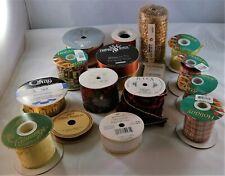 lot 16 vintage & modern ribbon gift wrapping supplies craft velvet satin cloth