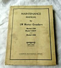 Wabco 330 330H 440 LW Motor Grader Shop Service Repair Maintenance Manual 1963