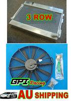 3ROWS GPI High-Per aluminum alloy radiator + FAN for Datsun 1600 Manual