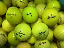 50 Premium Yellow Mix AAA/Standard Grade Golf Balls *Free Tees!*