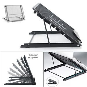 Adjustable Laptop Stand Folding Mesh Tablet Holder Tray Portable Office Support