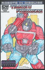 TRANSFORMERS ROBOTS IN DISGUISE 18 VARIANT PERCEPTOR Oliver Castaneda SKETCH COA