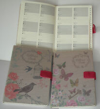 A5 A-Z  Index Address Book - Beautiful Fabric Style - Butterfly or Vintage Birds