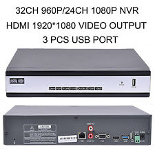 32CH 960P 24 CH1080P;SUPPORT 16CH 3.0MP 8CH 5.0MP 3PCS USB PORT CCTV NVR SYSTEM