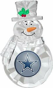 Dallas Cowboys Football Team NFL Traditional Snowman Christmas Tree Ornament