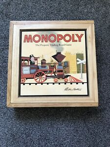 Monopoly NOSTALGIA Vintage Collectable Wooden UK Edition Excellent Condition