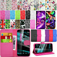 For Vodafone Smart Platinum 7 VFD 900 Wallet Leather Case Cover + Screen Guard
