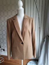 Hobbs camel beige light brown wool mix lightweight Jacket coat size 16 ex.cond.