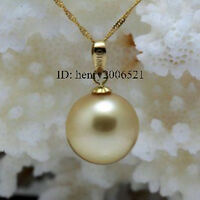 fashion 14mm gild southsea golden shell pearl pendant chain